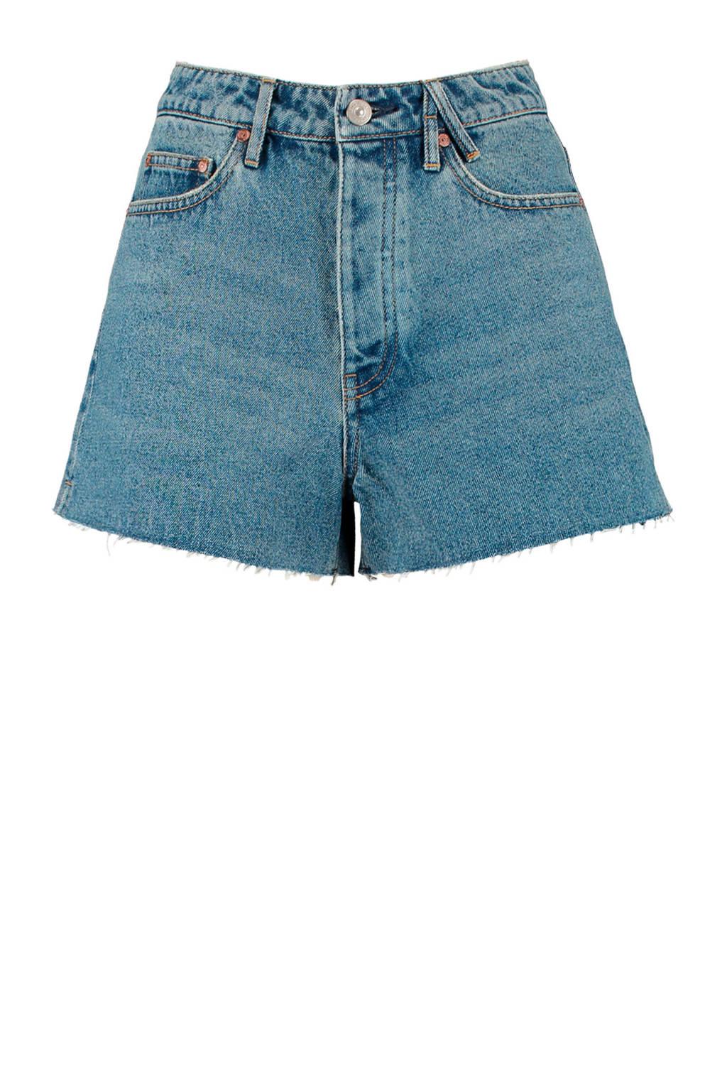 America Today high waist jeans short Jadan vintage blue, Vintage blue