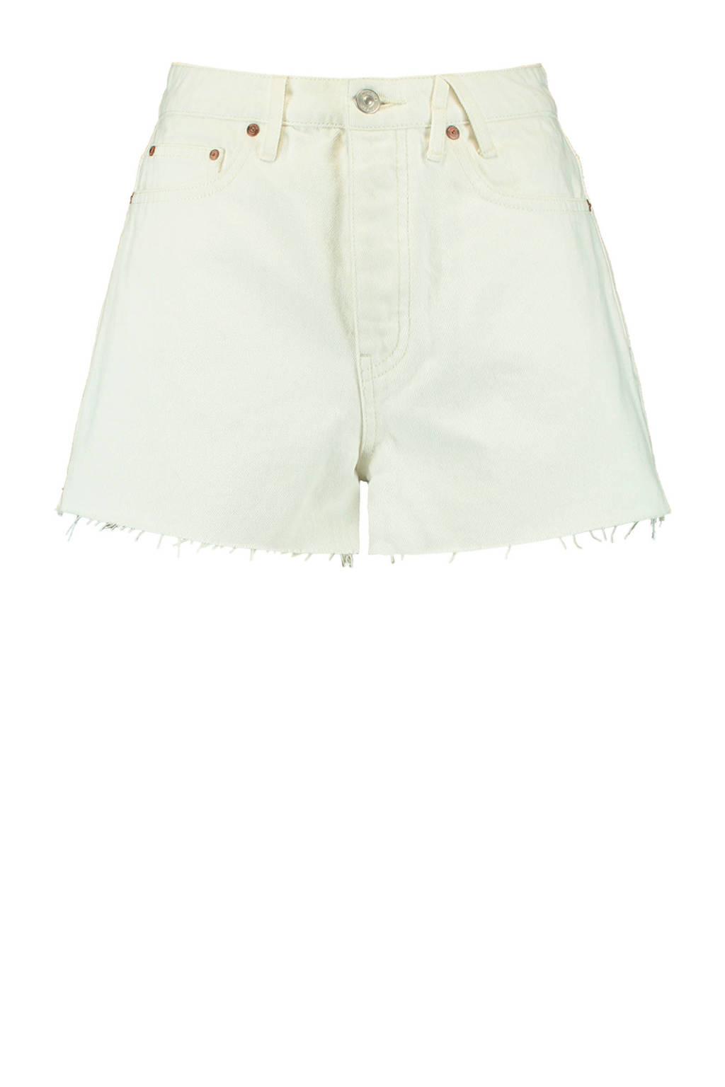 America Today high waist jeans short Jadan off white, Off White