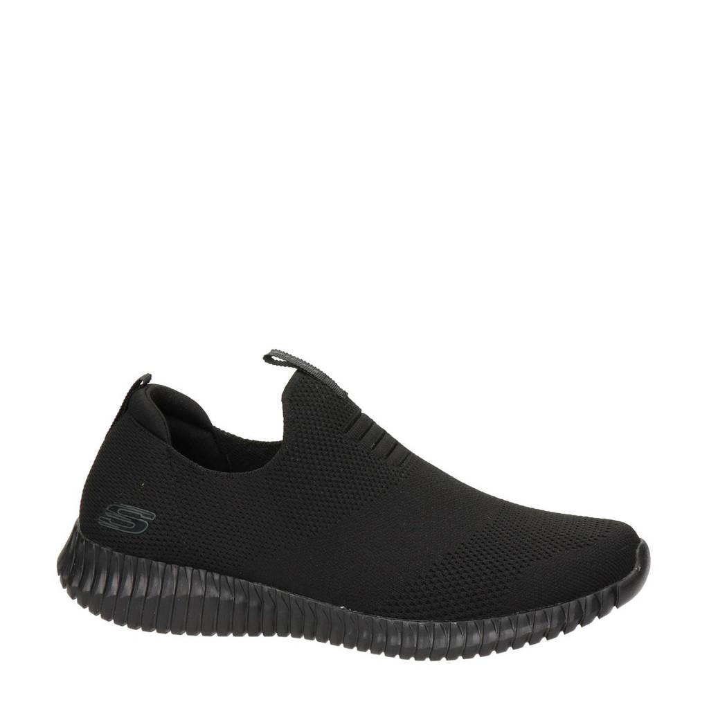 Skechers   instappers zwart, Zwart