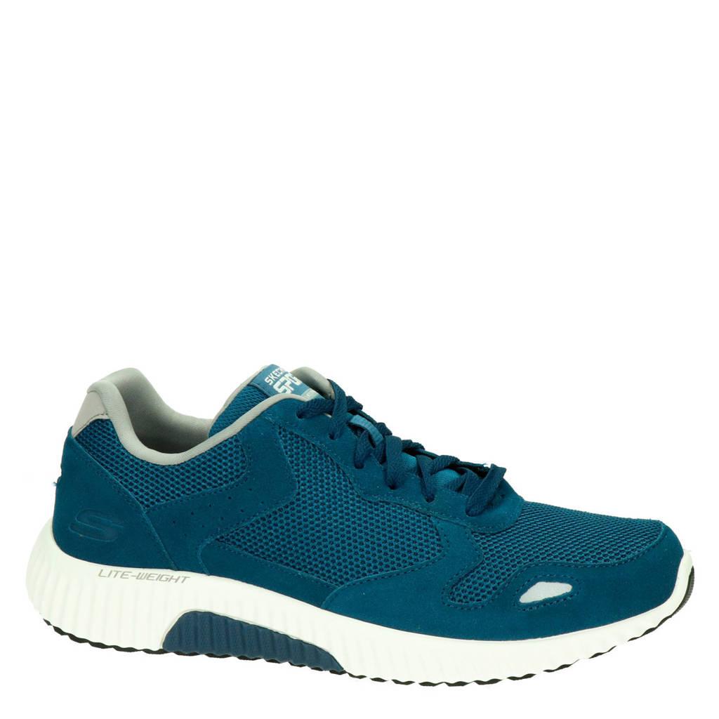 Skechers Paxmen  suède sneakers blauw, Blauw