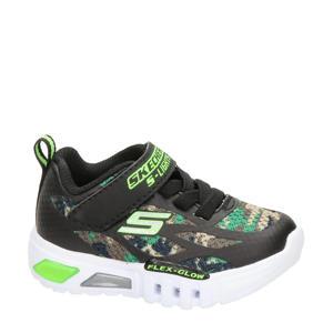 Camo Rondler  sneakers met lichtjes groen