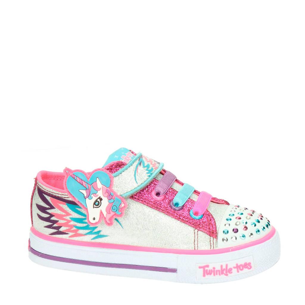 Skechers Twinkle Toes  sneakers wit/roze, Wit/roze