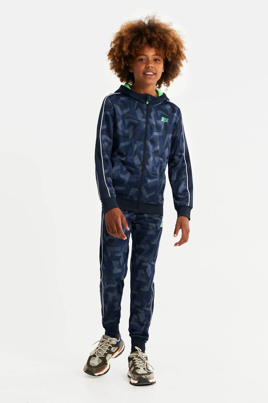 WE Fashion vest met grafische print donkerblauw, Donkerblauw