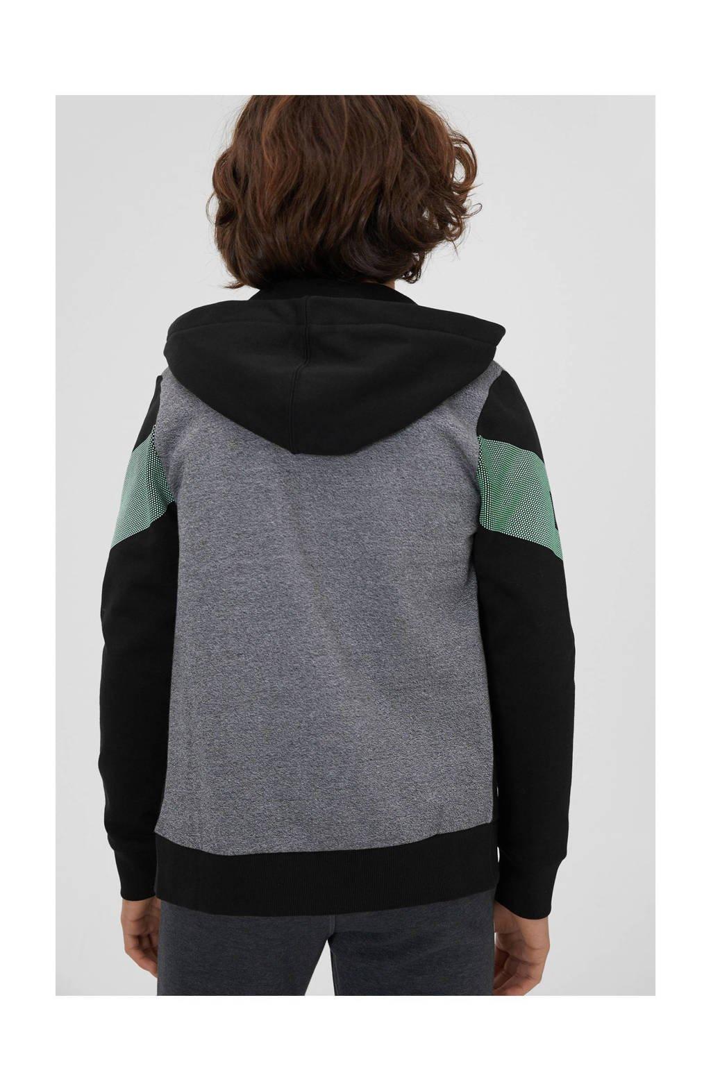 C&A Here & There vest met printopdruk zwart/grijs/groen, Zwart/grijs/groen
