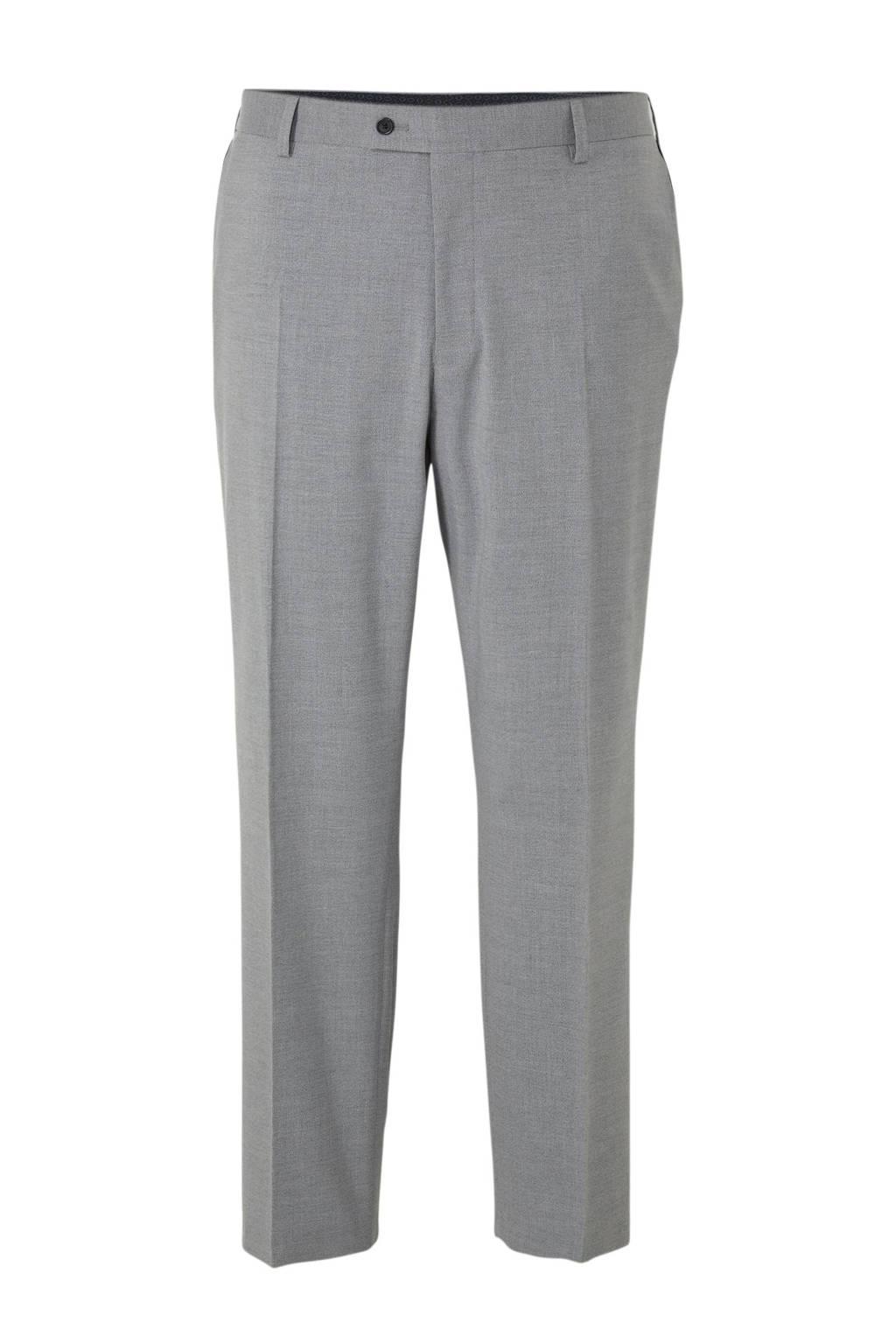 C&A XL Canda gemêleerde slim fit pantalon grijs, Grijs