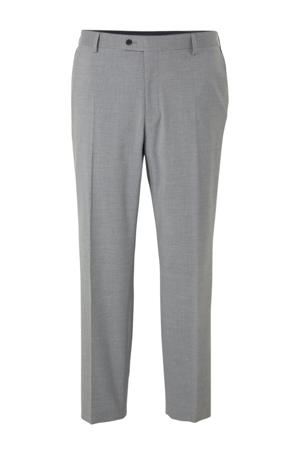 gemêleerde slim fit pantalon grijs
