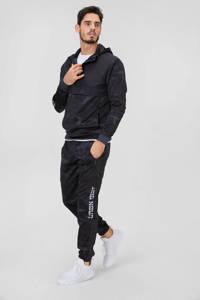 C&A Angelo Litrico gemêleerde regular fit joggingbroek zwart, Zwart