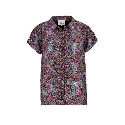 CKS blouse met all over print paars