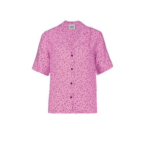 CKS blouse met stippen roze