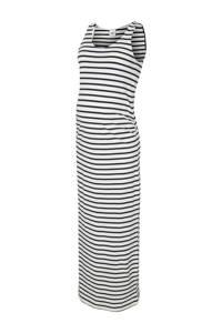 MAMALICIOUS gestreepte zwangerschapsjurk Lea met biologisch katoen wit/donkerblauw, Wit/donkerblauw