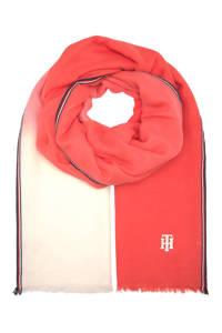 Tommy Hilfiger sjaal rood, Rood/ecru