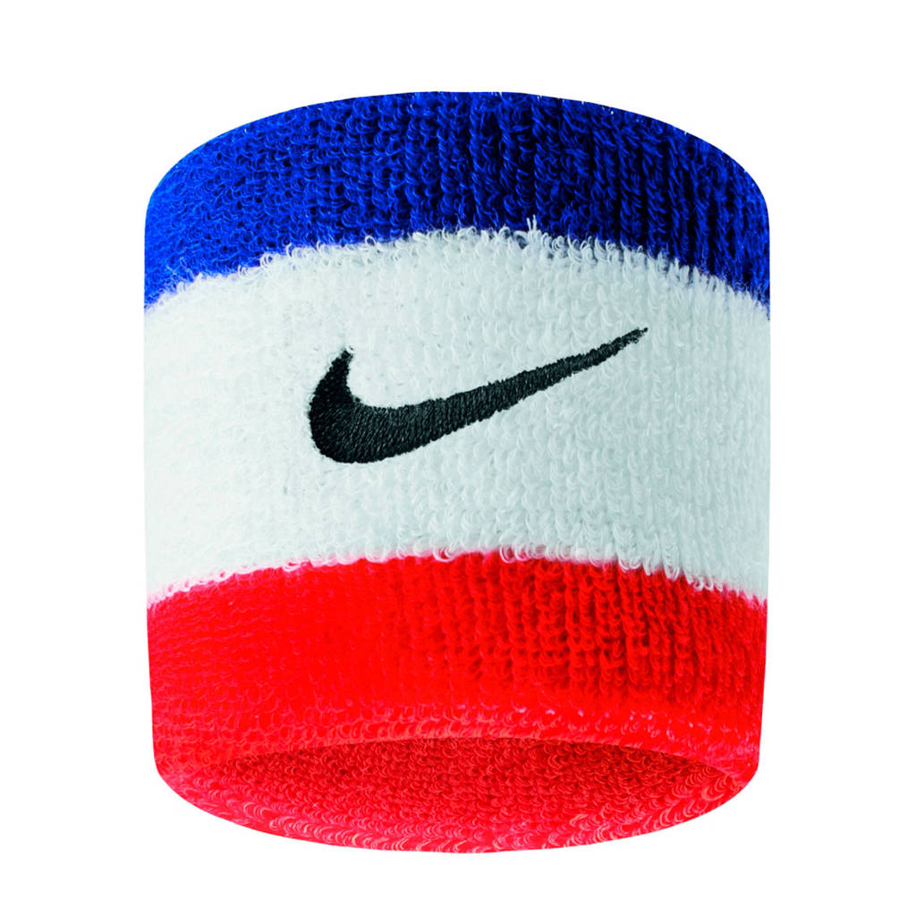 Nike   polsband - set van 2 blauw/wit/rood, Blauw/wit/rood