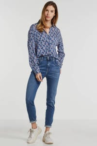 Diesel high waist regular fit jeans D-Slandy donkerblauw, Donkerblauw