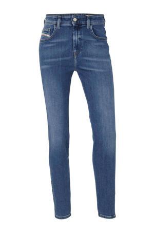 high waist regular fit jeans D-Slandy donkerblauw