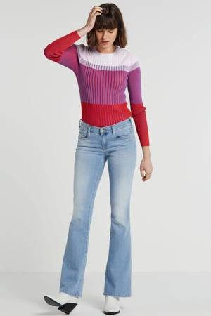 low waist bootcut jeans D-Ebbey lichtblauw