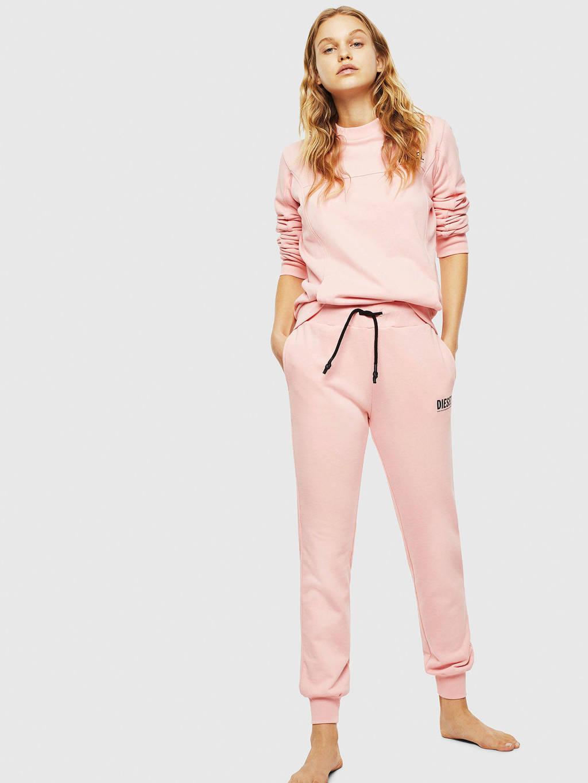 Diesel sweater met logo roze, Roze