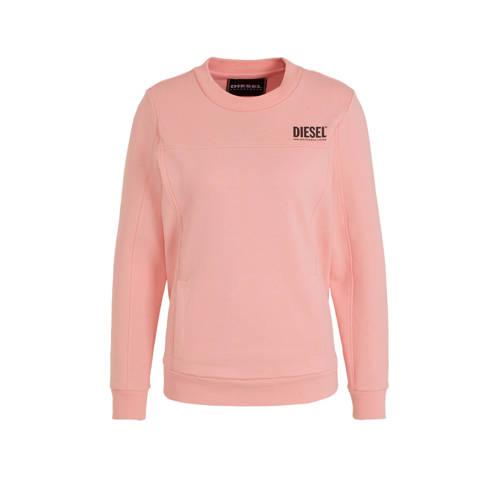 Diesel sweater met logo roze