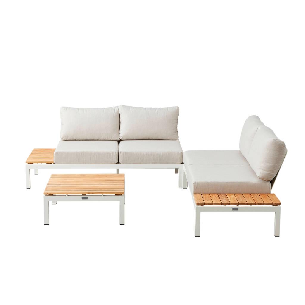 Exotan all weather loungeset Villa lounge, Wit/naturel/grijs