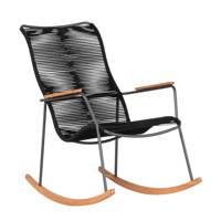 Exotan schommelstoel Slimm (set van 2), Zwart