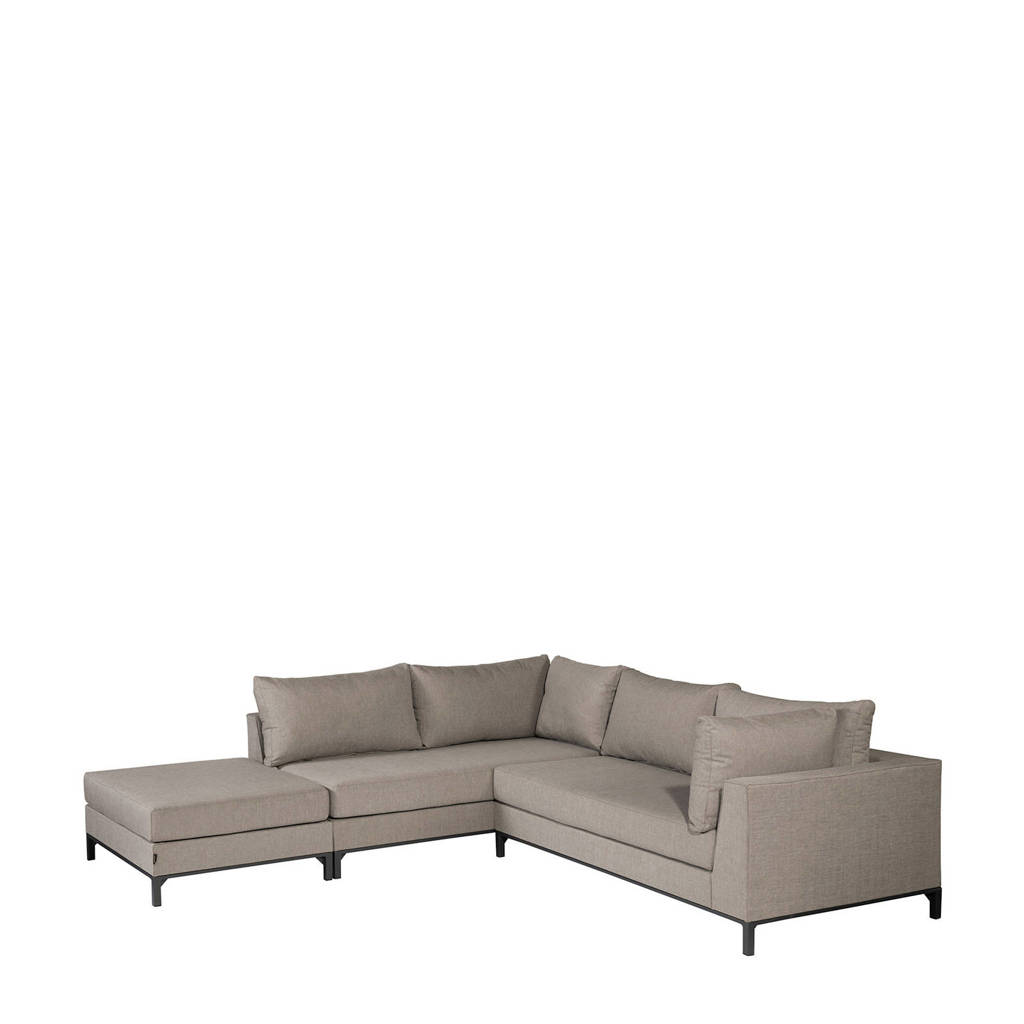 Exotan loungeset Sicilië links (excl. stoel), Taupe