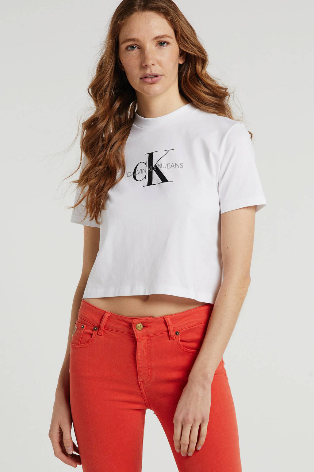 CALVIN KLEIN JEANS T-shirt met logo wit, Wit