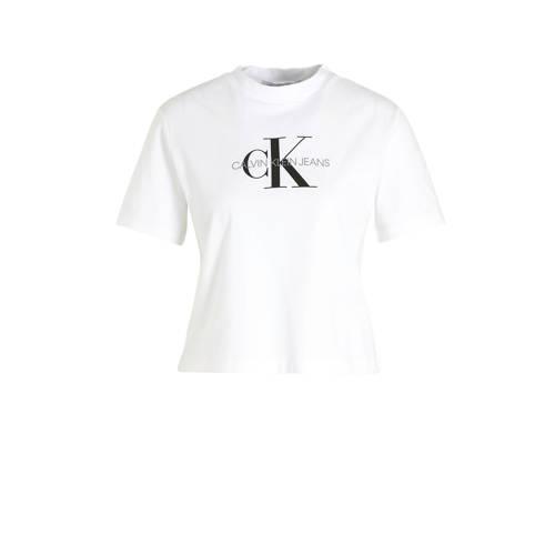CALVIN KLEIN JEANS T-shirt met logo wit