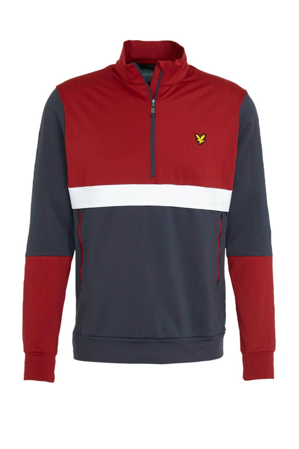Lyle & Scott   sweater donkerblauw/rood, Donkerblauw/rood