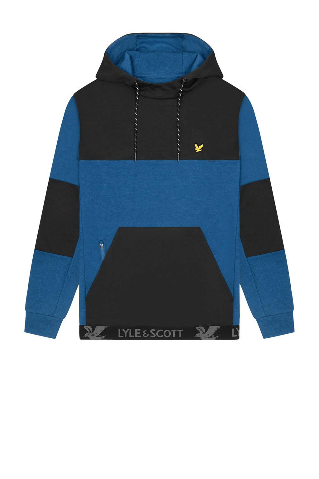 Lyle & Scott   hoodie blauw/zwart, Blauw/zwart