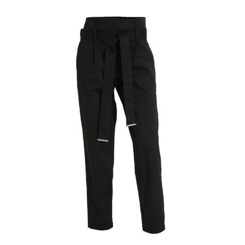 CALVIN KLEIN high waist tapered fit broek zwart