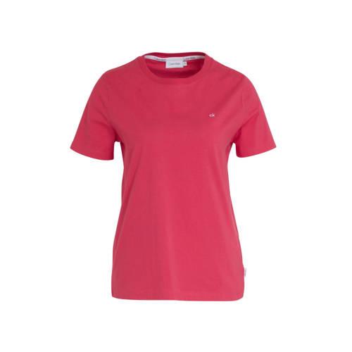 CALVIN KLEIN T-shirt met logo roze