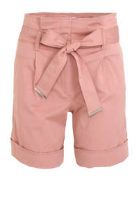 CALVIN KLEIN high waist slim fit short roze, Roze