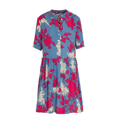 CALVIN KLEIN jurk met all over print blauw/roze