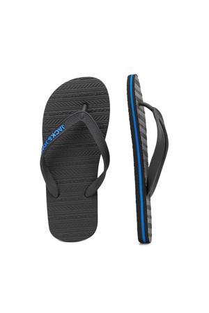 teenslippers zwart/blauw