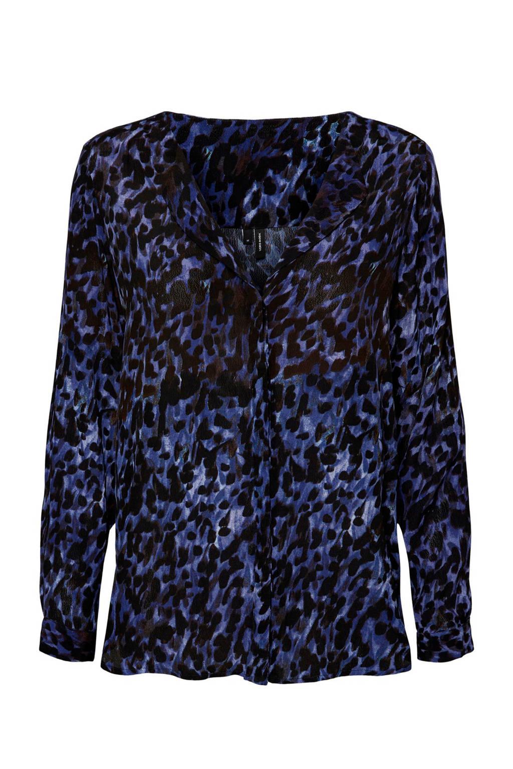 VERO MODA blouse blauw, Blauw