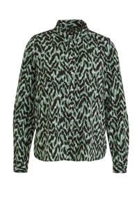VERO MODA blouse met all over print groen, Groen
