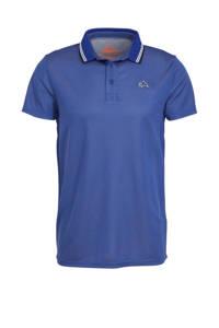 Falcon   sportpolo Eliaz blauw/wit, Blauw/wit