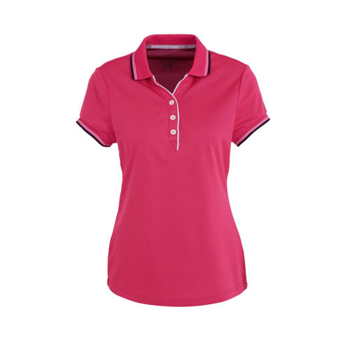 Falcon sportpolo Brianna roze/zwart
