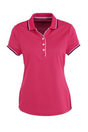 sportpolo Brianna roze/zwart