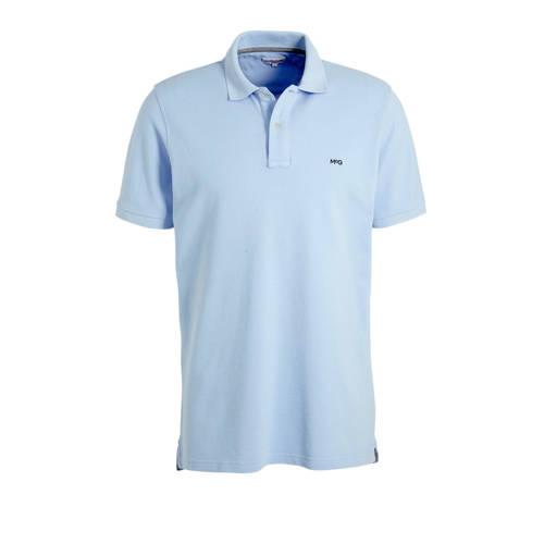 McGregor regular fit polo met logo lichtblauw