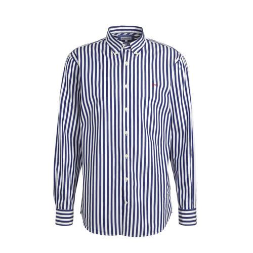 McGregor gestreept regular fit overhemd blauw