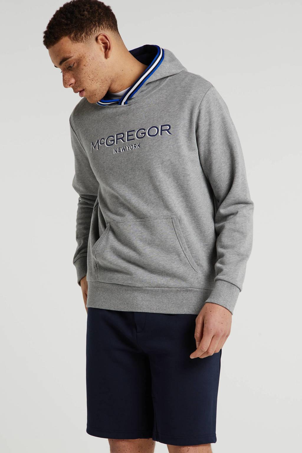 McGregor hoodie met printopdruk grijs, Grijs