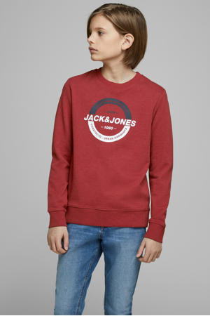 sweater Strong met printopdruk rood