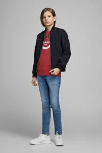 JACK & JONES JUNIOR sweater Strong met printopdruk rood, Rood