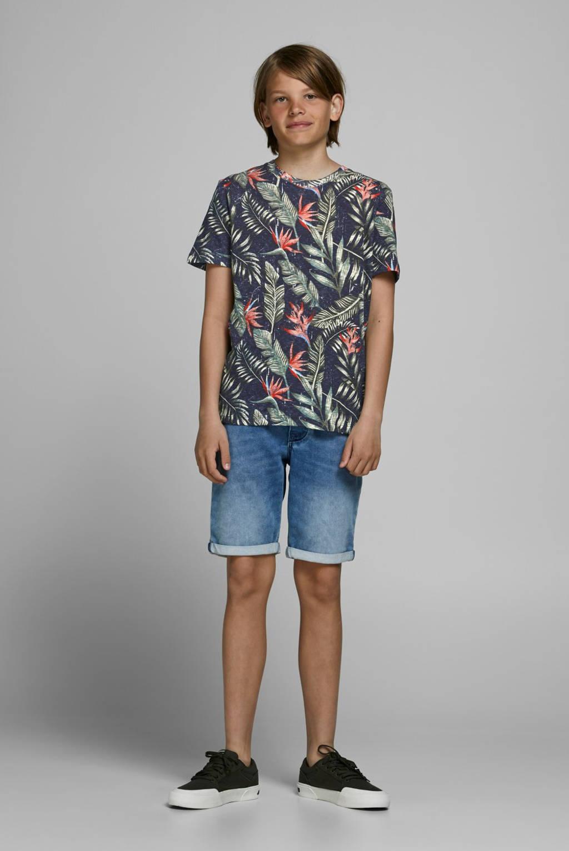 JACK & JONES JUNIOR T-shirt Eli met all over print donkerblauw, Donkerblauw