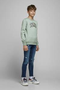 JACK & JONES JUNIOR sweater Venicebeach met logo mintgroen, Mintgroen