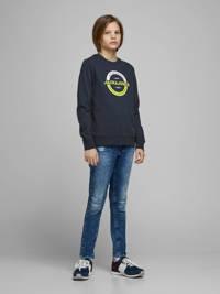 JACK & JONES JUNIOR sweater Strong met printopdruk donkerblauw, Donkerblauw