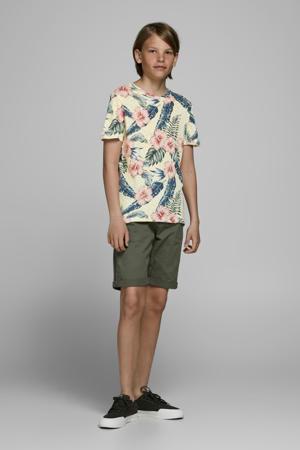T-shirt Eli met all over print lichtgeel