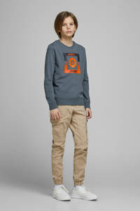 JACK & JONES JUNIOR sweater Strong met printopdruk blauw, Blauw