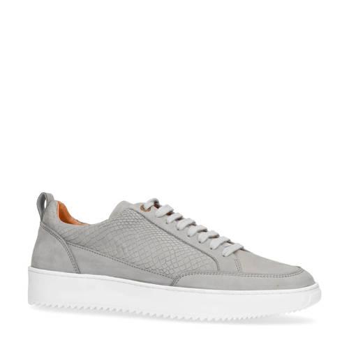 Sacha nubuck sneakers crocoprint grijs