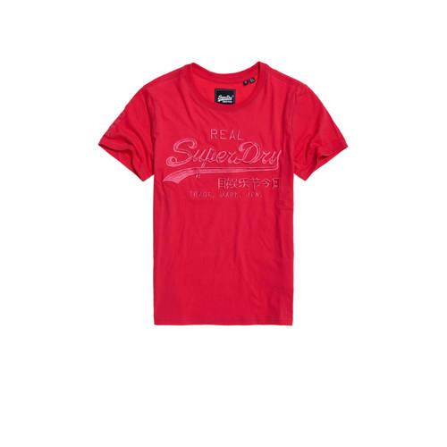 Superdry T-shirt met logo roze